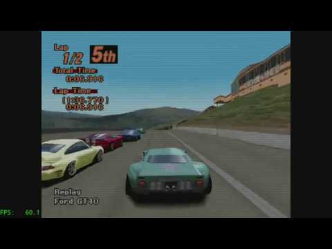 Retroarch) Gran Turismo 2 on Beetle PSX HW - Enhanced and default
