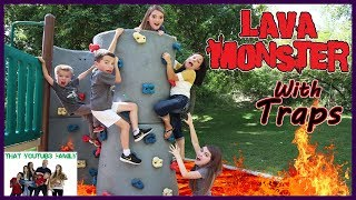 The Floor Is Lava   LAVA MONSTER Tag With Traps  That YouTub3 Family | Family Channel