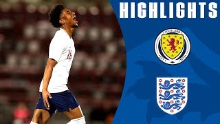 Scotland U21 0-2 England U21 | Nelson Hits Stunning Free Kick | Official Highlights