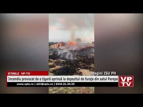 Incendiu provocat de o țigară aprinsă la depozitul de furaje din satul Parepa