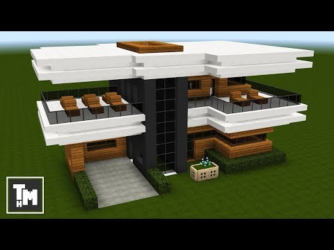 Minecraft: How To Build A Modern House / Mansion Easy (4K) (Episode 7) 2017