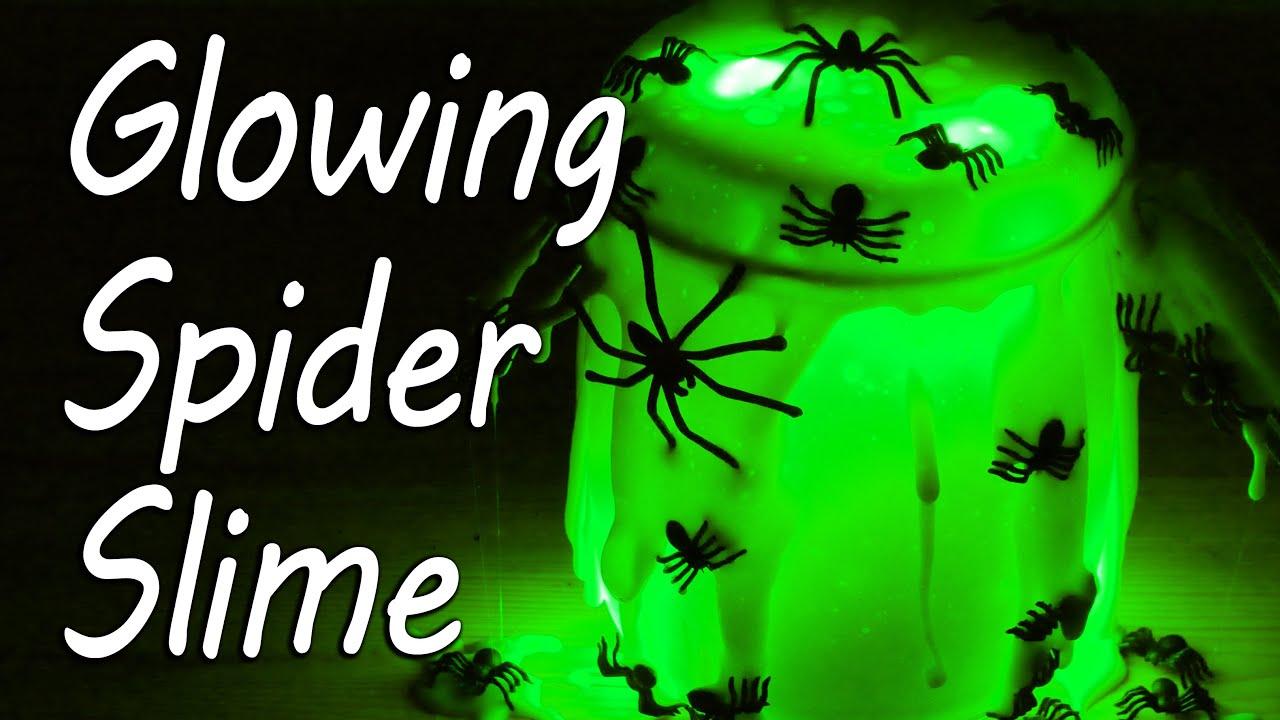 Glow in the Dark Spider Slime | Halloween thumbnail