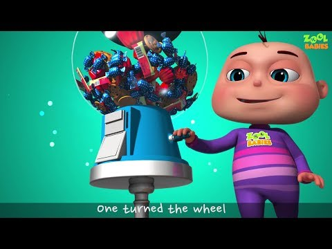 Five Little Babies Playing Candy Ball Machine (Single) | Zool Babies Fun Songs | Baby Ronnie TV