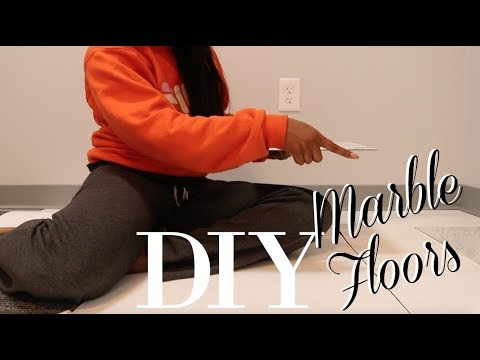 DIY Marble Floors On Carpet! | RENTER FRIENDLY! | MAKEUP MOO
