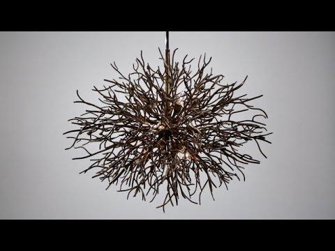 Video for Sierra Distressed Bronze Nine-Light Pendant
