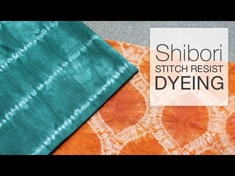 Shibori Stitch Resist Dyeing Technique