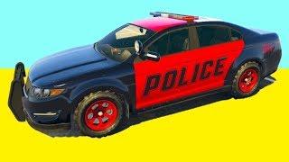 Мультфильмы про Цветные Мультики для Мальчиков Веселые Тачки Полицейские Машины Машинки Гонки Песни