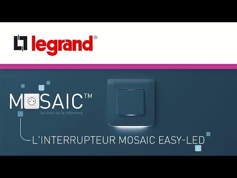 Plaque de finition Mosaic pour 2 modules blanc