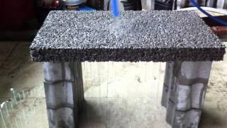 Porous concrete slab