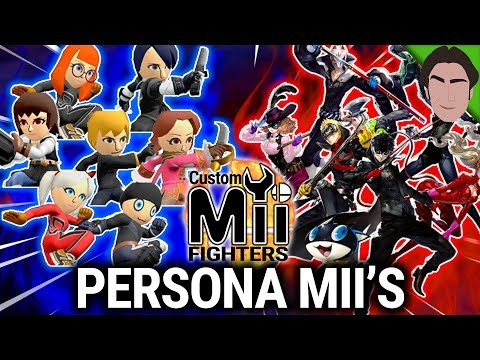 Ryuji, Morgana, Ann, and MORE! Persona Custom Mii Fighter for Smash Bros