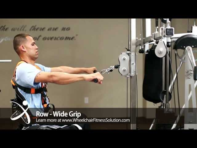 Wheelchair Fitness Solution | Exercise: Row – Wide Grip (23 of 40)