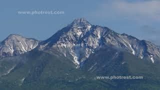 夏の斜里岳