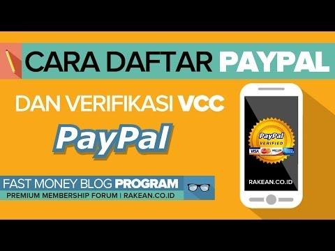 Video Cara Daftar Paypal & Verifikasi VCC