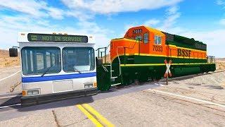 Машинки нарушители на дорогах и Поезда - Мультик игра для мальчиков