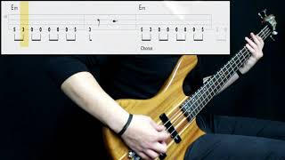 Rammstein   Du Hast (Bass Cover) (Play Along Tabs In Video)