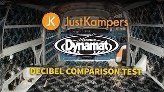 Just Kampers Dynamat Decibel Comparison Test