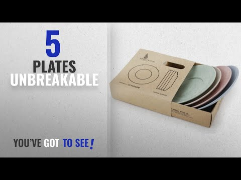 Best Plates Unbreakable [2018]: Golandstar Healthy Wheat Straw Eco Friendly Biodegradable