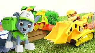 Видео для детей. МУЛЬТИК ИЗ ИГРУШЕК про щенячий патруль! #ЩенячийПатруль и РУХНУВШИЙ ПОЕЗД!