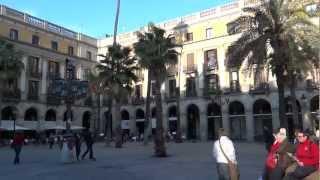 preview picture of video 'Barcelona, Spain - Plaça Reial HD (2013)'