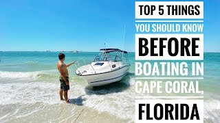 Boating through Cape Coral Canals to Sanibel Island, Captiva and other islands. Boating Florida.