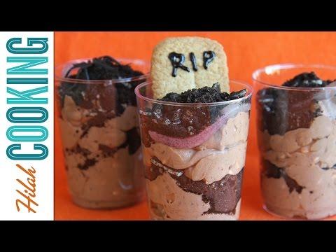 How to Make Dirt Cake |  Spooky Halloween Dessert | Hilah Cooking