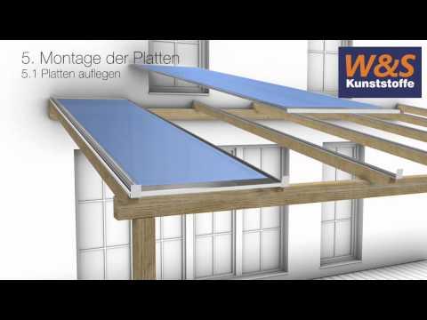 Montageanleitung von Stegplatten mit Schraubprofilen