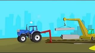 Песенка для самых маленьких синий трактор Мультфильм про машинки Развивающие мультики