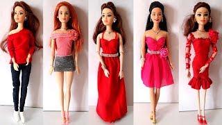 5 Barbie Doll Valentine Day Dress Making Ideas   Beautiful Barbie Doll Red Dress Designs 2019!