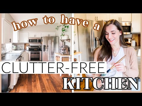 HOW TO HAVE A CLUTTER-FREE KITCHEN! Minimalist Kitchen Tour Messy To Minimal Mom #clutterfreejanuary