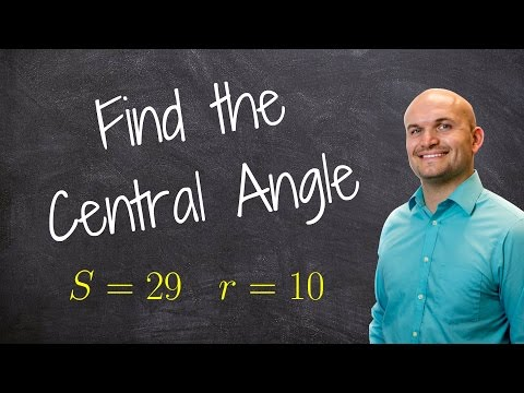 Finding the measure of an angle given arc length and radius