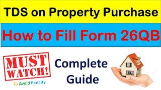 How to file TDS return Form 26QB I TDS Return Live Filing I Generate Form 26QB in Hindi I u/s 194 IA