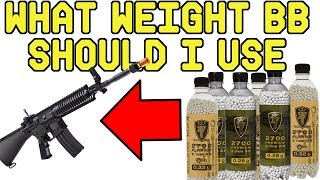 What Weight BB Should I use in my Airsoft Gun?