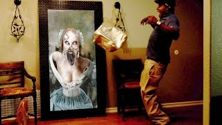 Paranormal Activity Digital Portrait-Zombie prank