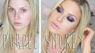 Vibrant Purple Smokey Eye For Green/Hazel Eyes! ♡ Chit Chat Tutorial - Shaaanxo