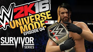 WWE 2K16 Universe Mode - Episode 04 - Survivor Series PPV (Xbox One / PS4 Gameplay)