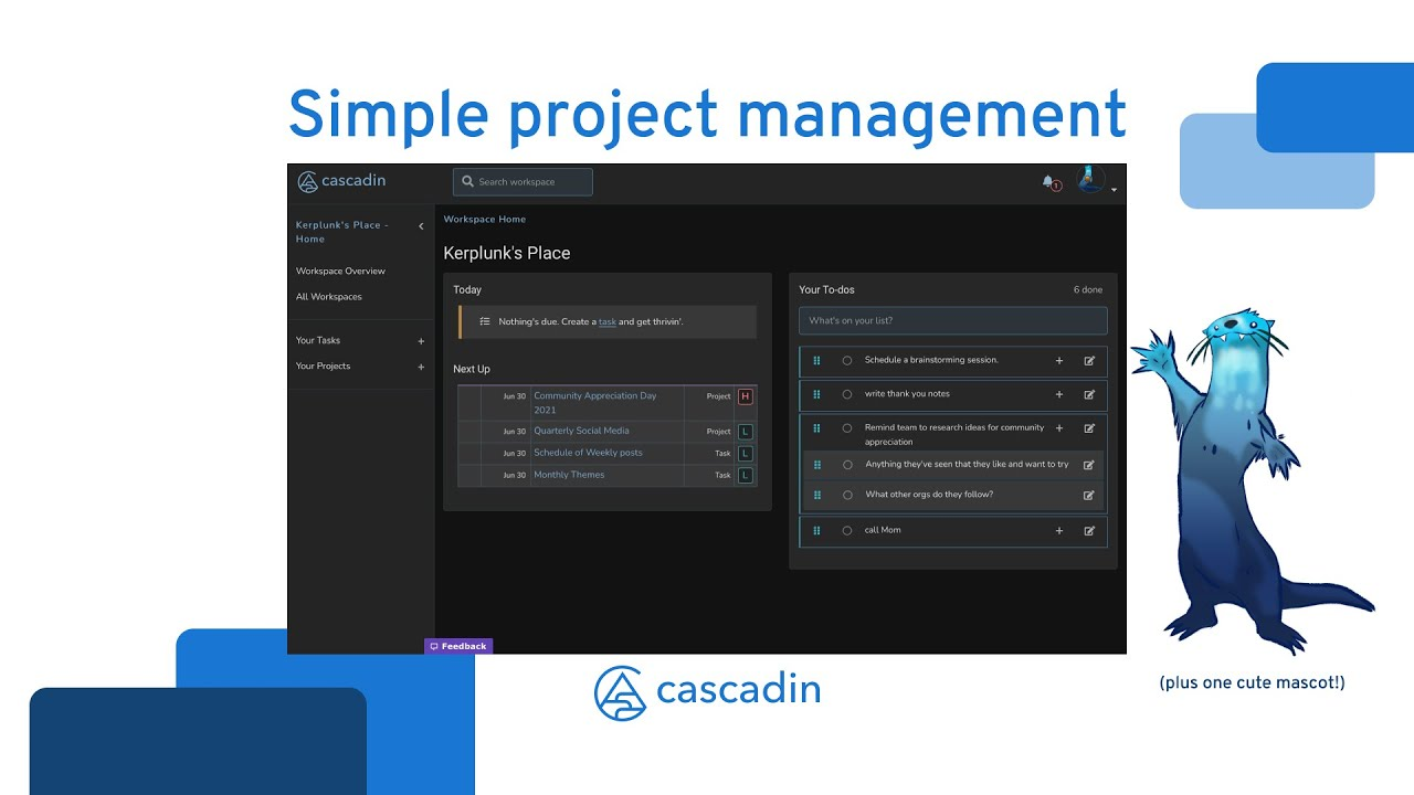 You're invited to a 30-day free trial of Cascadin