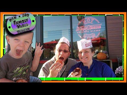 Krispy or Dunkin?? Maine's First Krispy Kreme | Bin and Jon's Family Vlogs