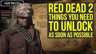 Red Dead Redemption 2 Tips THINGS YOU NEED TO UNLOCK As Soon As Possible (RDR2 Tips And Tricks)