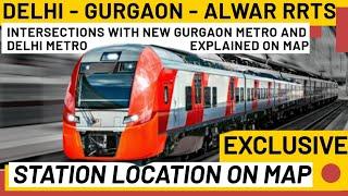 Delhi Gurgaon Alwar Rapid Rail Route Map   Stations Mapping with Gurgaon Metro and Delhi Metro