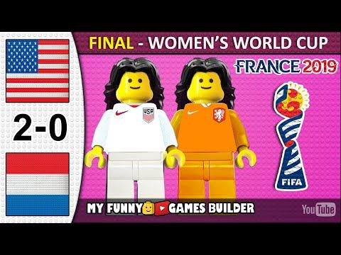 Women's World Cup Final 2019 • USA vs Netherlands 2-0 🏆 All Goals Highlights LEGO Football (France)