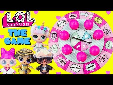 LOL SURPRISE GAME Unicorn, Goo Goo Queen, Pharaoh Babe, PHDBB Toy Surprises