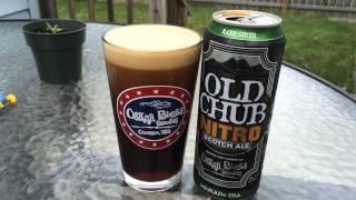 Oskar Blues Old Chub NITRO Scotch Ale Pour