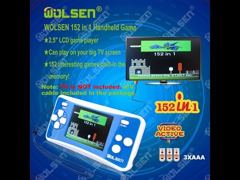 """WOLSEN 2.5"""" LCD Portable Handheld Game Console Speaker (Blue + White) 152 Games in 1 Review"""