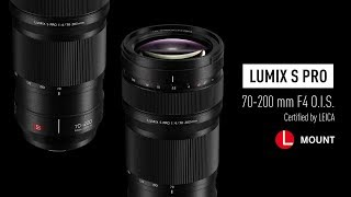 YouTube Video FsXISDF0aoA for Product Panasonic Lumix S Pro 70-200mm F4 OIS Lens (S-R70200) by Company Panasonic Corporation in Industry Lenses