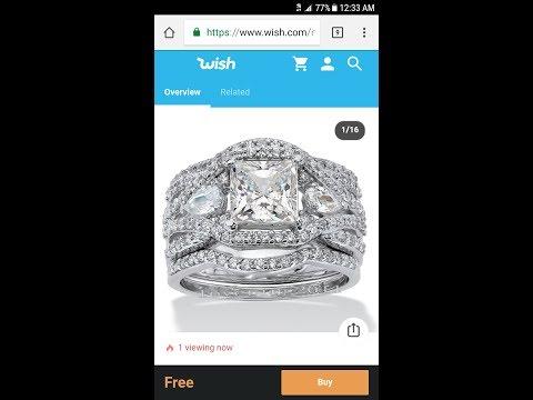 WISH wedding ring review.