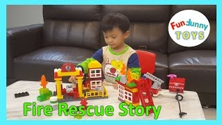 Educational Building Blocks Fire Rescue Story Fire Engine Firemen Fun Funny Toys Review