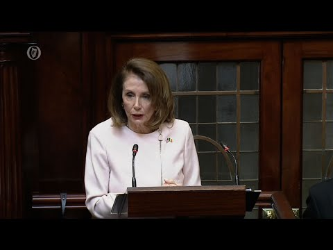 Speaker of the House Nancy Pelosi got a standing ovation following an address to members of the Irish parliament in which she said the ongoing Brexit uncertainty should not imperil the Good Friday accords. (April 17)