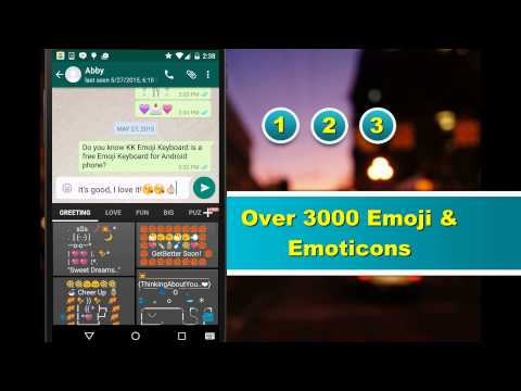Video of Emoji Keyboard - Emoticons(KK)