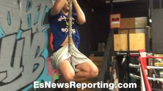 Hard Core!!! boxing star Sergey Lipinets s&c training with Tolik Kaminsky - EsNews Boxing