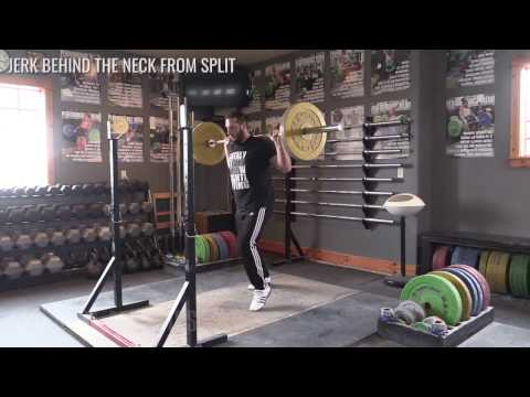 Jerk Behind the Neck from Split  - Olympic Weightlifting Exercise Library - Catalyst Athletics